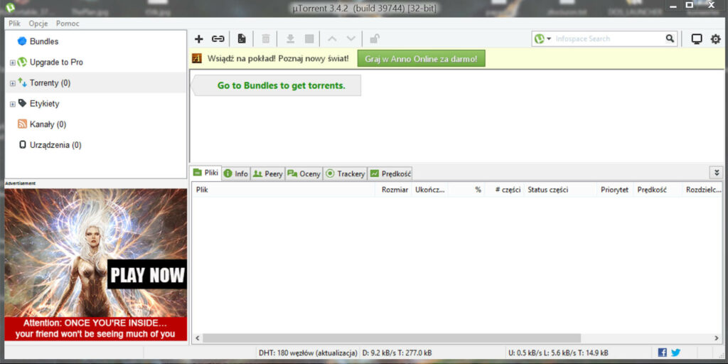 torrent przed 1024x512 Usuwamy reklamy z programu μTorrent