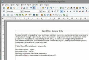 pierwsze kroki w edytorze writer openofficeorg 1 300x205 19 przydatnych programów dla systemu Windows