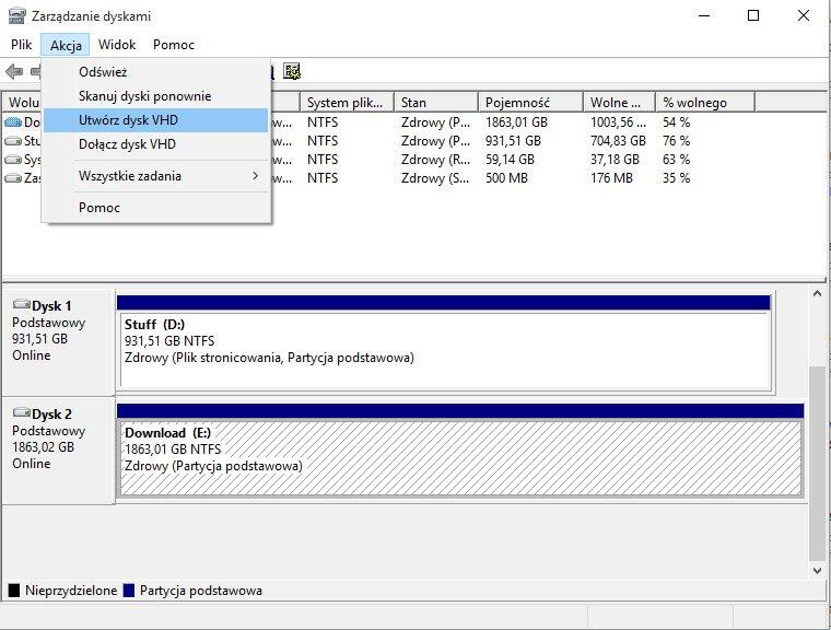 vhd 1 Tworzymy zaszyfrowany wolumin w systemie Windows