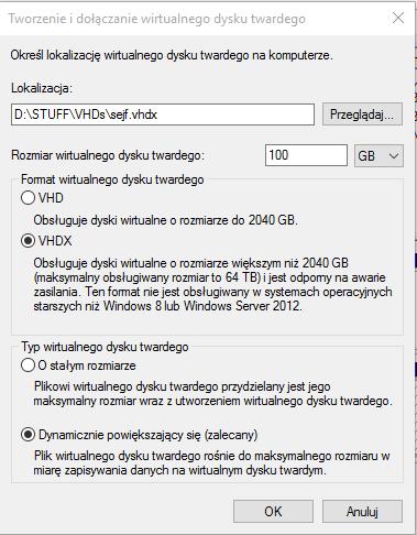 vhd 2 Tworzymy zaszyfrowany wolumin w systemie Windows