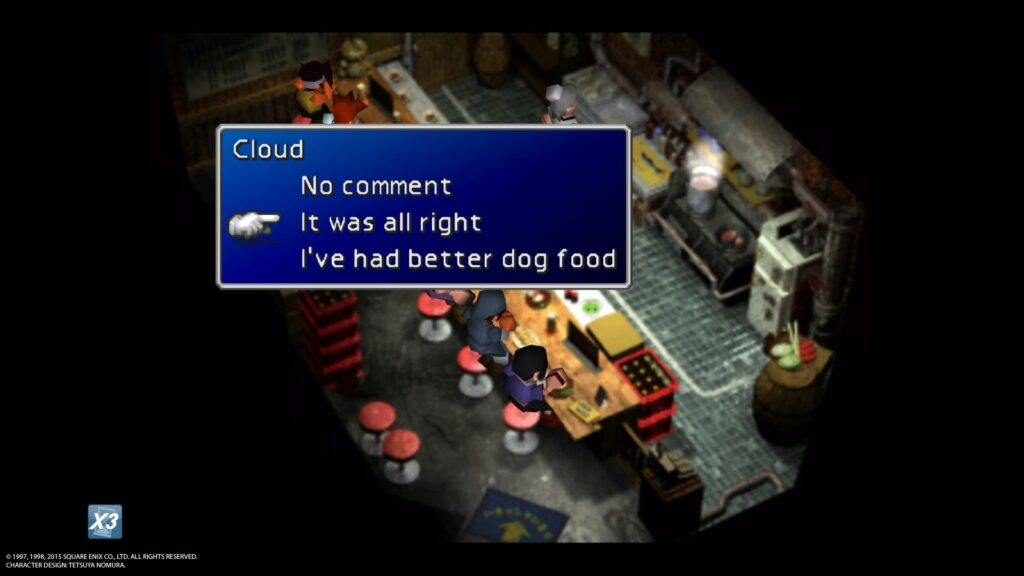 FINAL FANTASY VII 20151213124622 1024x576 Jak zdobyć trofeum Consummate Cross dresser w Final Fantasy 7