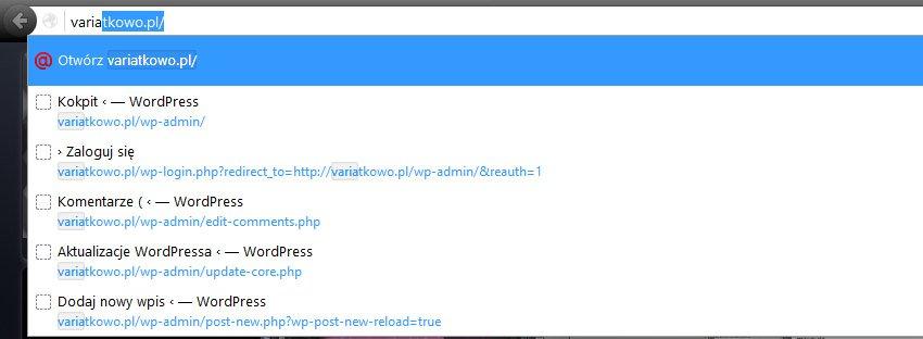 firefox otworz Usuwamy Otwórz ... w przeglądarce Firefox