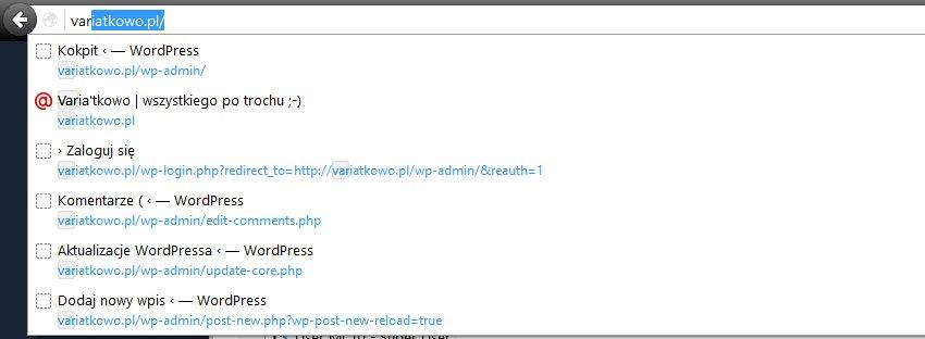 firefox  Usuwamy Otwórz ... w przeglądarce Firefox