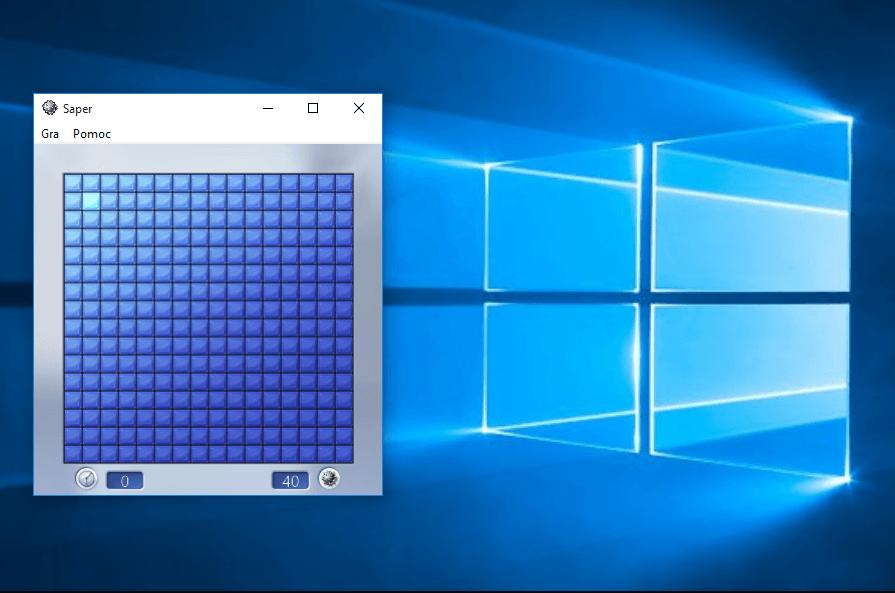 mine  Przywracamy klasyczne gry z Windows 7 na Windows 10