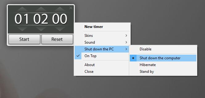 TIMER Ustawiamy automatyczne wyłączenie komputera