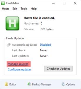 hosts 1 276x300 Blokujemy reklamy w Microsoft Edge