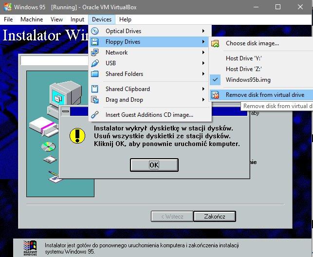 remowe Instalujemy Windows 95 na Virtualbox