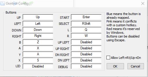 nds control config Konfiguracja DeSmuME (emulator Nintendo DS)