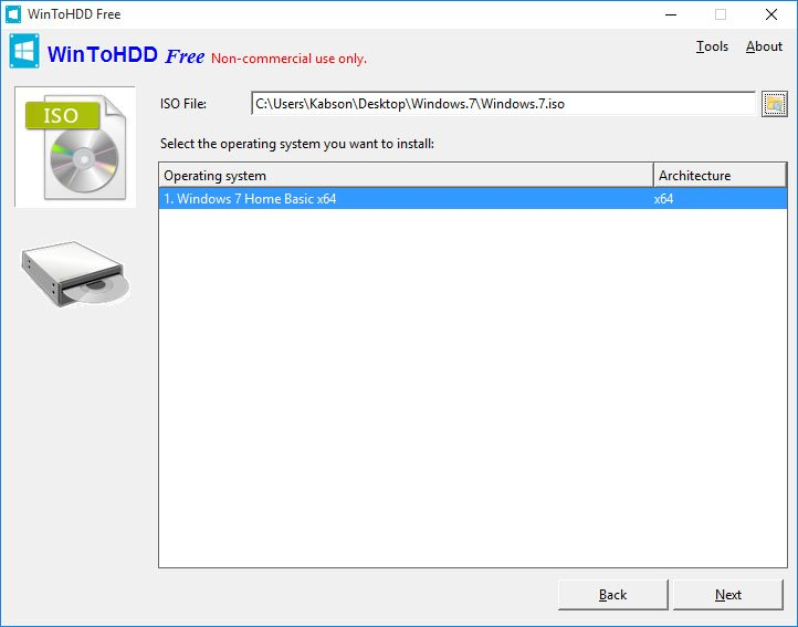 win2hdd 2 Instalujemy system Windows bez nośnika DVD bądź USB