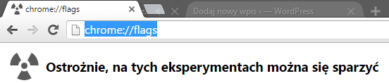 chrome flags Przyśpieszamy przeglądarkę Google Chrome