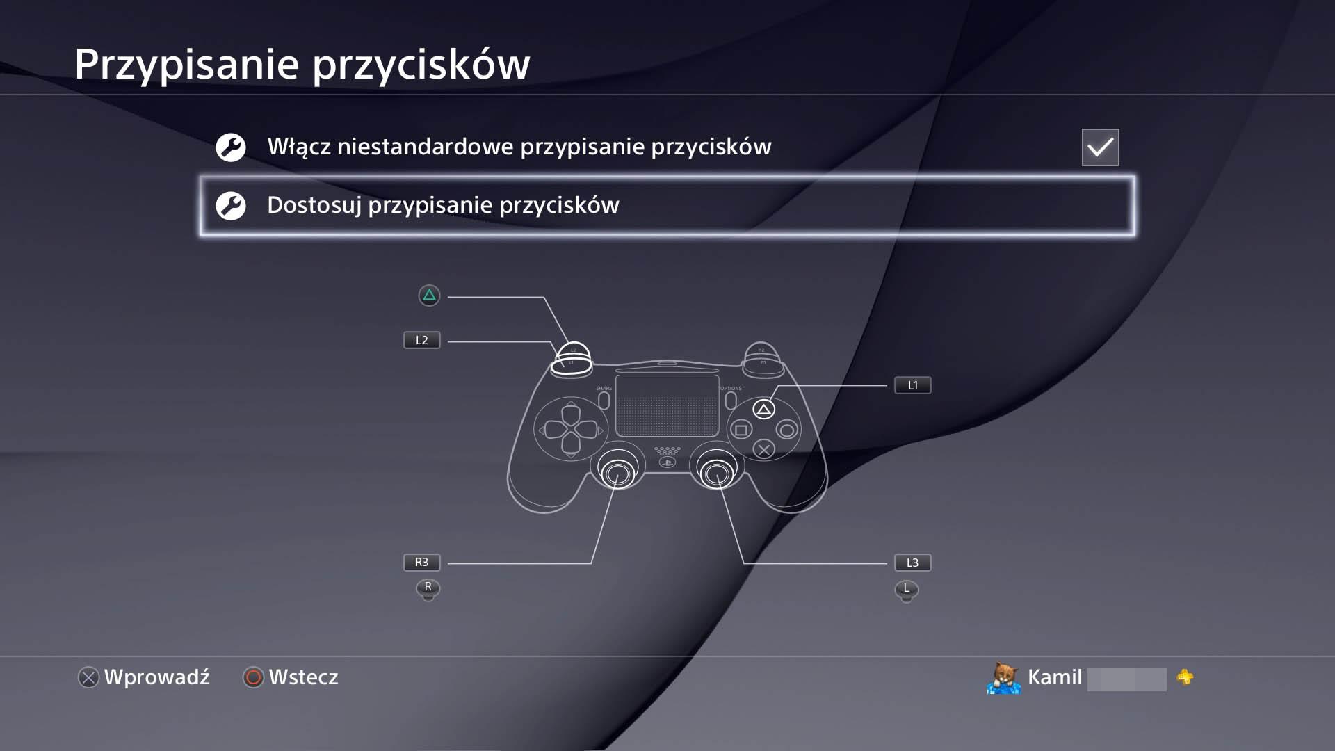 sciagawka Remapujemy przyciski Dualshocka 4
