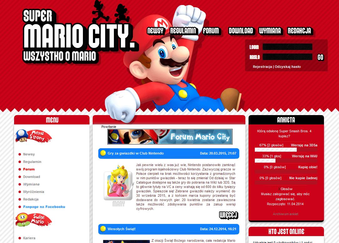super mario 4  dobre stronki poświęcone Super Mario w sieci.