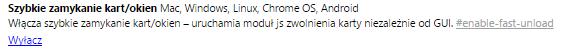 szybkie zamykanie Przyśpieszamy przeglądarkę Google Chrome