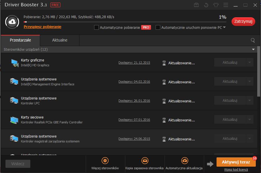 driver booster 7 mało znanych aplikacji przydatnych w Windows