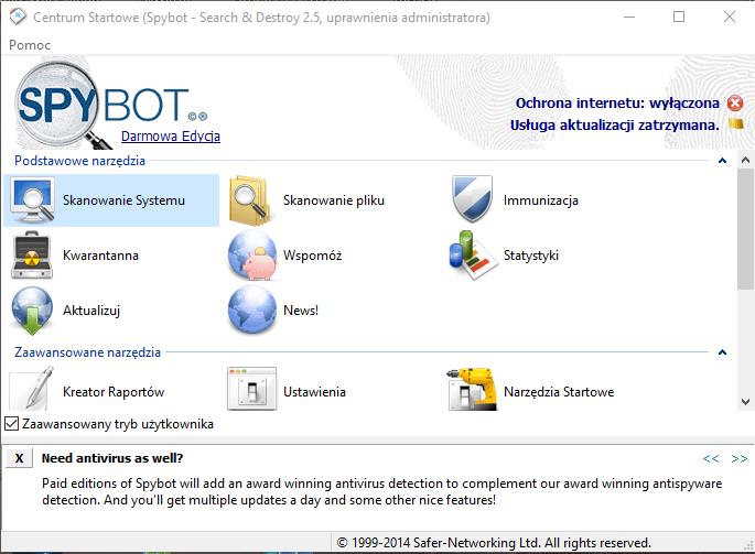spybot 7 mało znanych aplikacji przydatnych w Windows