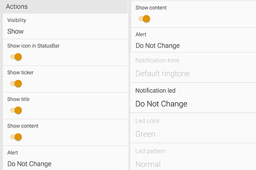 xnotify actions Jak zmodyfikować powiadomienia w telefonie z Androidem