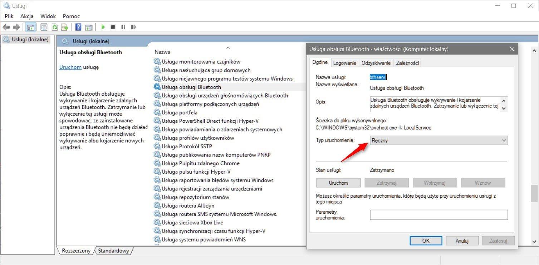 bluetoth Jak usunąć usługę w systemie Windows