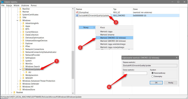 Zrzut ekranu 99 kopia Wyłączamy automatyczną aktualizację sterowników w systemie Windows 10
