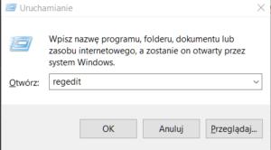 regedit 300x166 Wyłączamy automatyczną aktualizację sterowników w systemie Windows 10