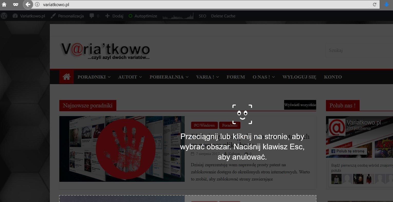 ff screen Uaktywniamy ukrytą funkcję robienia screenshotów w Firefox