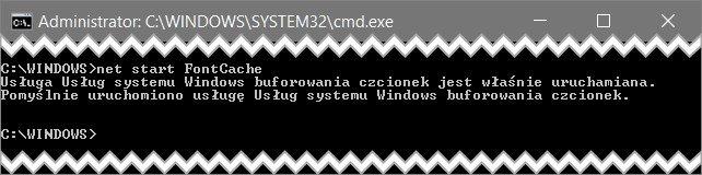 step 3 Odświeżamy pamięć podręczną czcionek w Windows 10