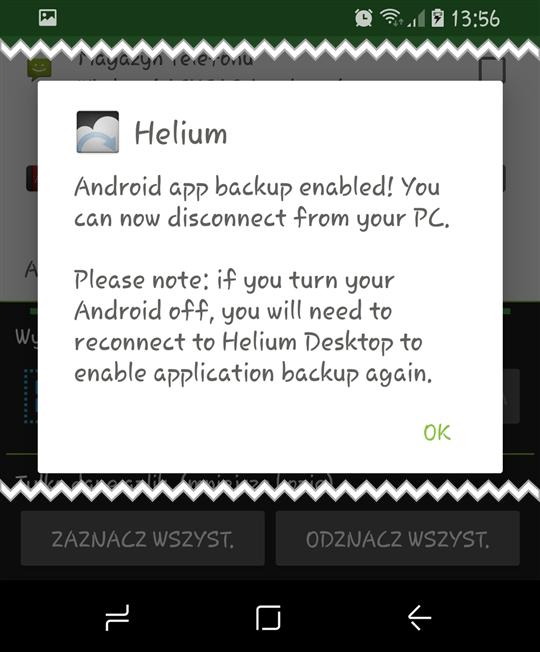 helium OK Tworzymy kopię zapasową aplikacji na Androidzie bez ROOTa
