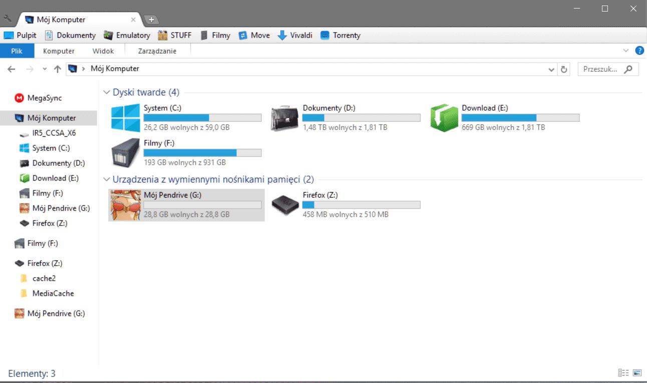 Zrzut ekranu 152 Jak ustawić ikonę dla dysku przenośnego w systemie Windows