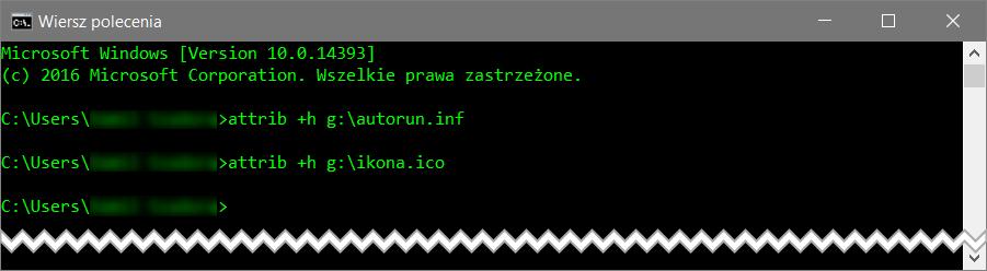 attrib Jak ustawić ikonę dla dysku przenośnego w systemie Windows
