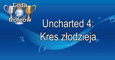 Trofea i osiągnięcia: Uncharted 4 Kres złodzieja