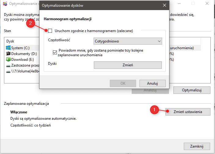 optymalizacja dyskow Sześć metod na uporanie się z 100% użycia dysku w systemie Windows
