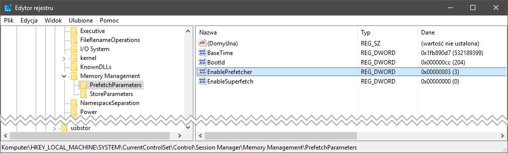 regedit 2 Sześć metod na uporanie się z 100% użycia dysku w systemie Windows
