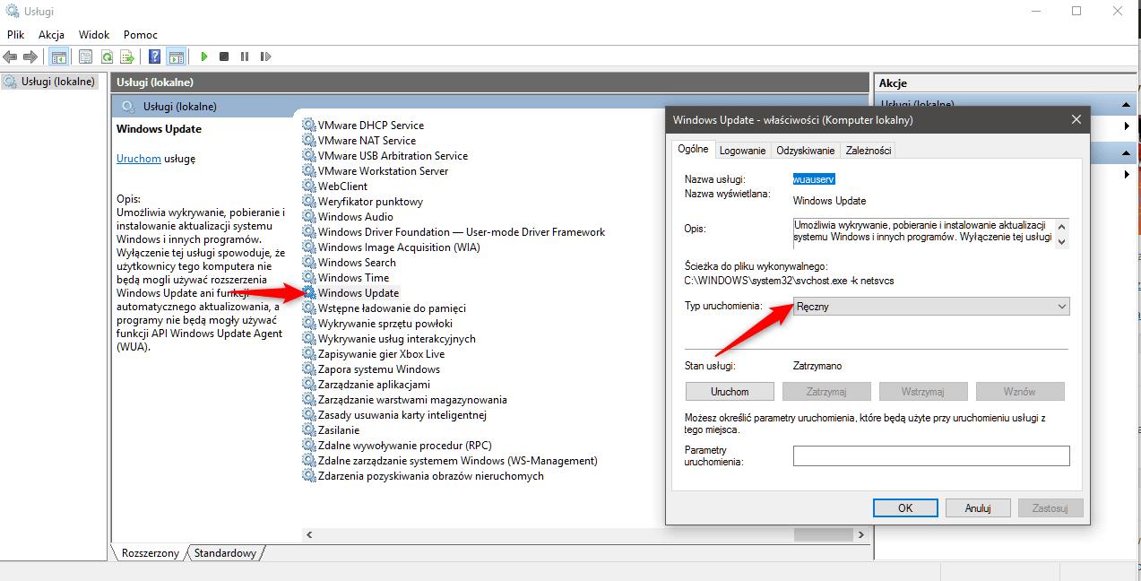 winupdate Sześć metod na uporanie się z 100% użycia dysku w systemie Windows