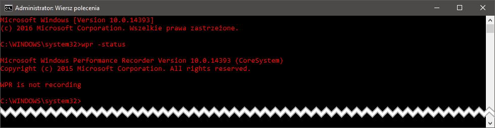 wpr status Sześć metod na uporanie się z 100% użycia dysku w systemie Windows