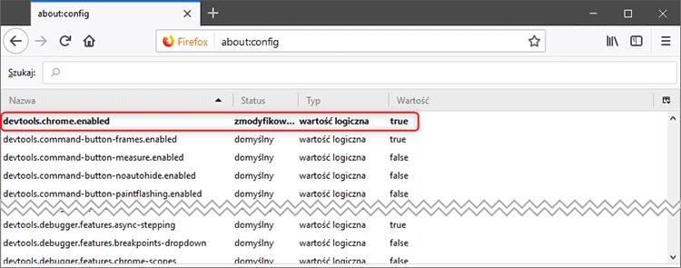 about config  Jak zapisać loginy i hasła do pliku w Firefox Quantum