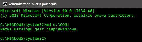 md com denied Tworzymy folder w systemie Windows, którego nie jesteśmy w stanie usunąć