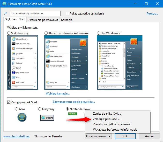 Zrzut ekranu 1 Upodabniamy Windows 10 do Windowsa XP