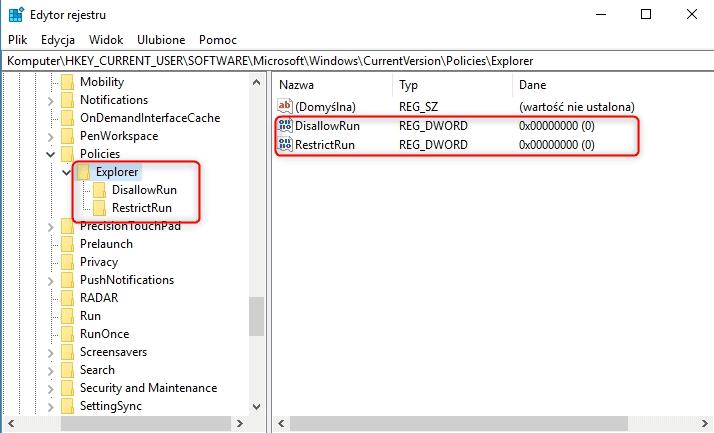 disallow Blokujemy uruchamianie aplikacji w systemie Windows