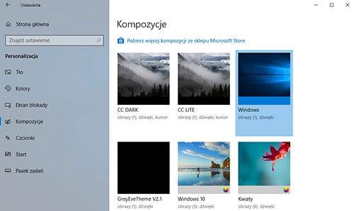 windows kompozycje Jak dodać i zastosować niestandardowe kompozycje do Windows 10