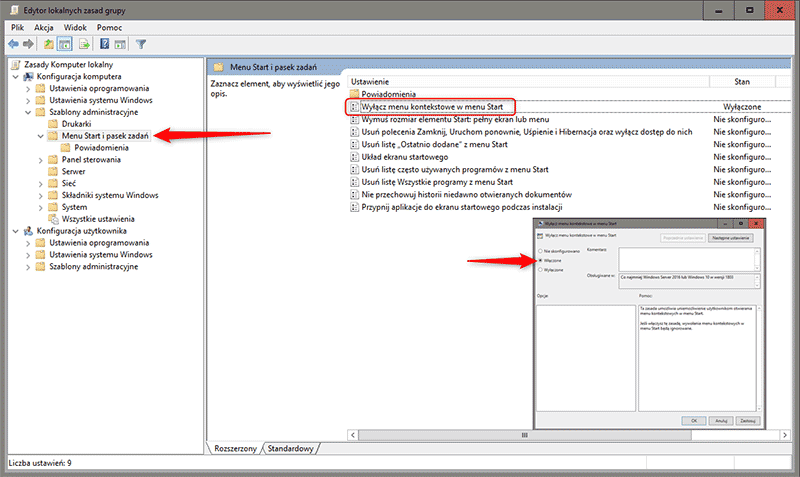 Zrzut ekranu 6 kopia Jak zablokować menu podręczne w Menu Start