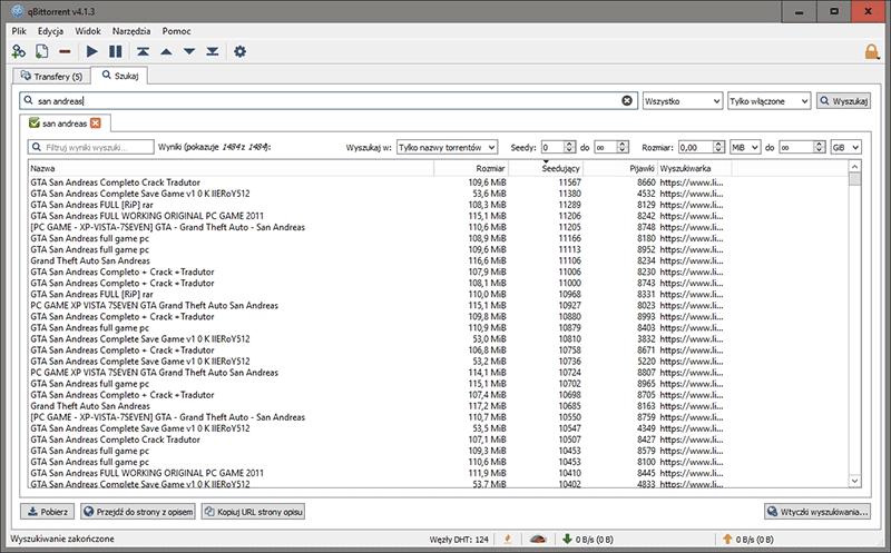 2018 11 20 10h48 50 Szukamy torrentów z poziomu aplikacji qBittorrent