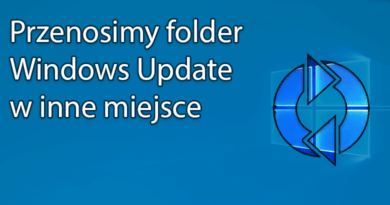 Przenosimy folder Windows Update w inne miejsce