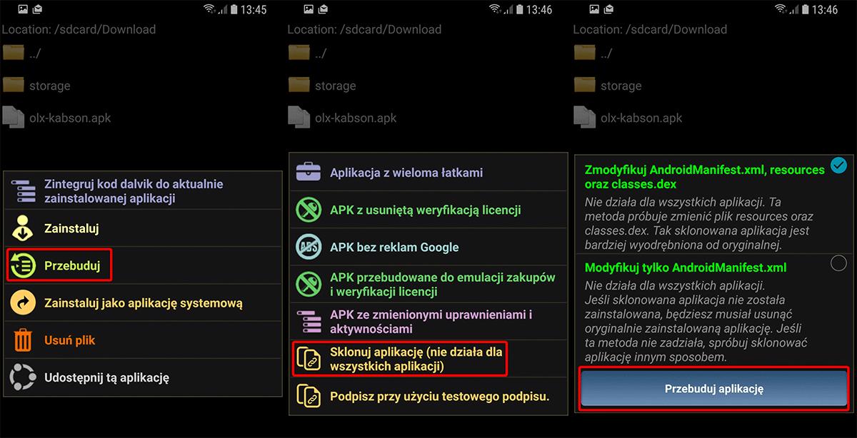 Screenshot 20181122 134558 Lucky Patcher Klonujemy aplikację na Androidzie