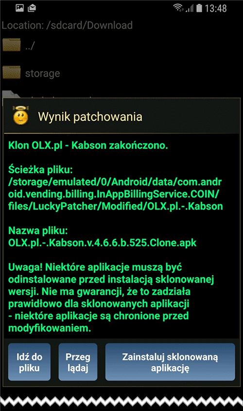 Screenshot 20181122 134826 Lucky Patcher Klonujemy aplikację na Androidzie