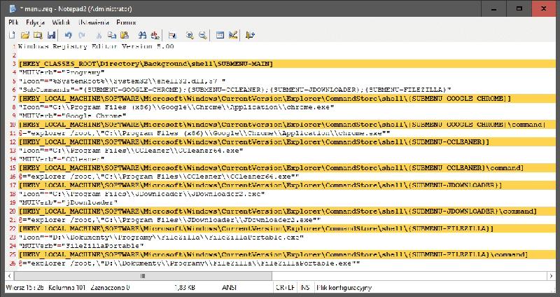 2019 01 15 19h26 17 Dodajemy skróty do aplikacji w menu kontekstowym