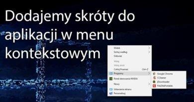 Dodajemy skróty do aplikacji w menu kontekstowym