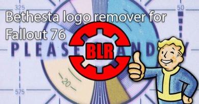 Bethesta logo remover for Fallout 76