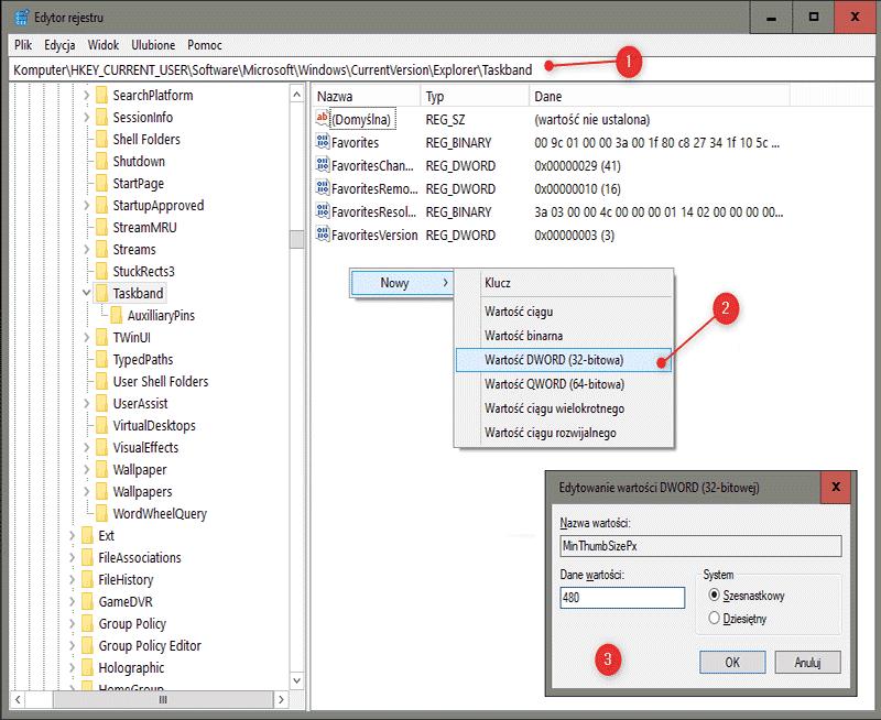 Zrzut ekranu 24 Jak zwiększyć wielkość podglądu okien na pasku zadań Windows 10