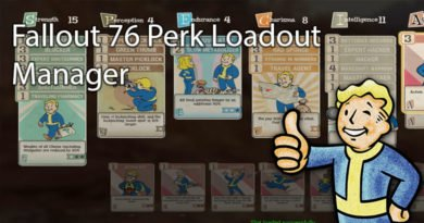 Fallout 76 Perk Loadout Manager
