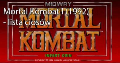 Mortal Kombat I (1992) – lista ciosów