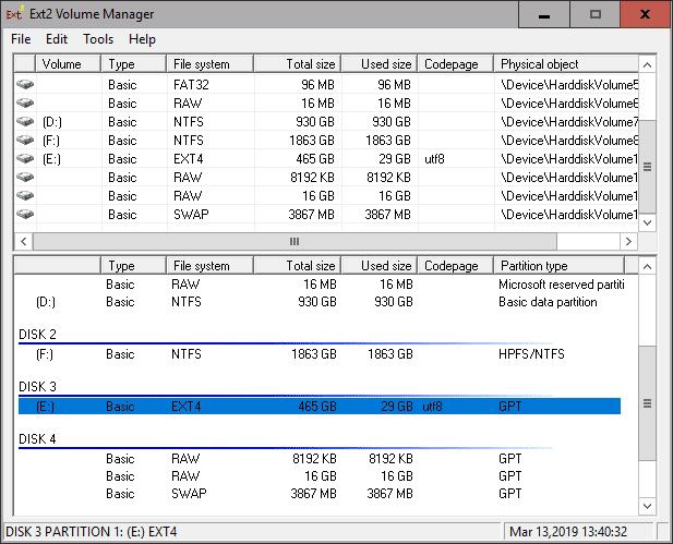 2019 03 13 13h40 34 Jak odczytać dane z dysków Ext4/Ext3 w systemie Windows